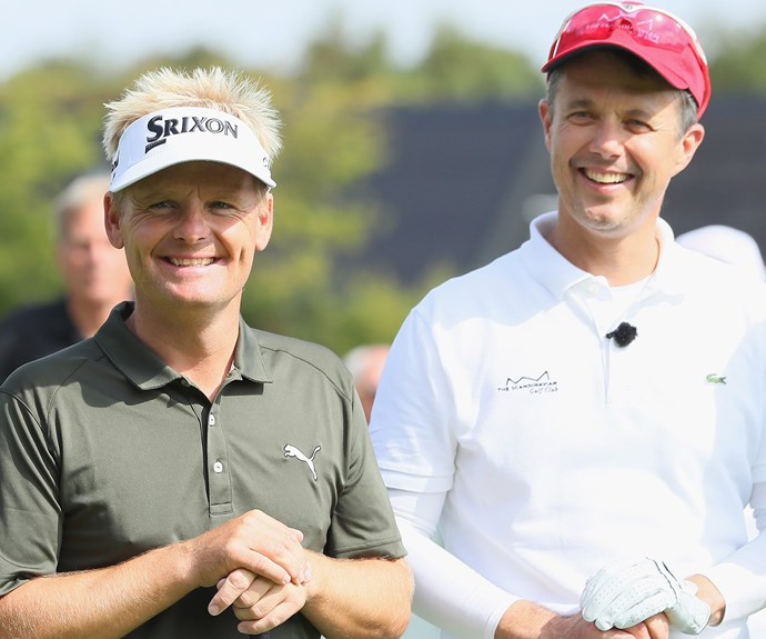Fred and his playing partner, professional golfer Soren Kjeldsen, looked pretty chuffed with the end results! **WATCH: Prince Fred talks about his love of sailing! Gallery continues after the video**