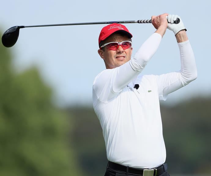 Prince Frederik of Denmark showed of his golfing prowess during the Pro Am golf tournament, which was held at the Himmerland Golf & Spa Resort in Aalborg, Denmark on Wednesday, August 24.