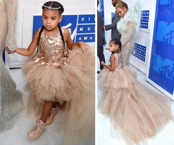 When you're mum is Beyonce, you wear an $11K by designer Mischka Aoki to the VMAs.