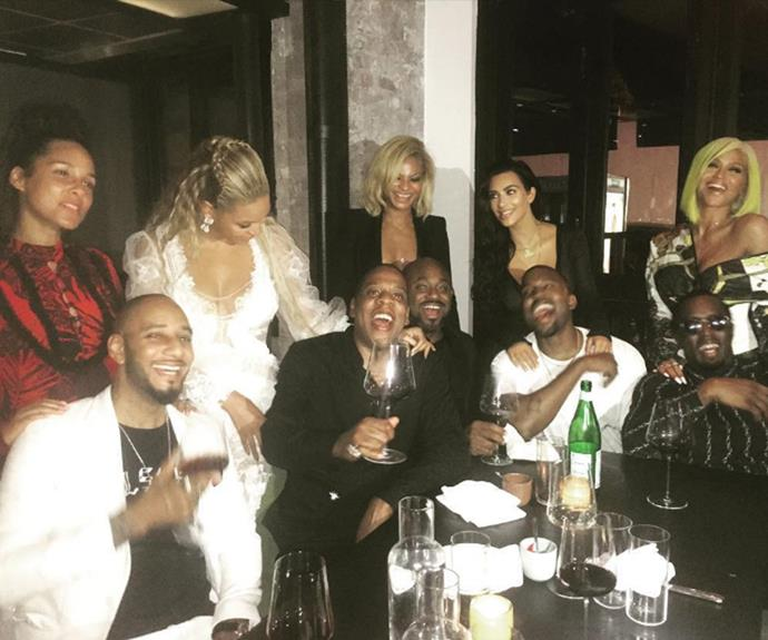 """""""Kanye and Kim were very affectionate. Jay and Beyoncé were acting like a happy married couple,"""" said a source."""