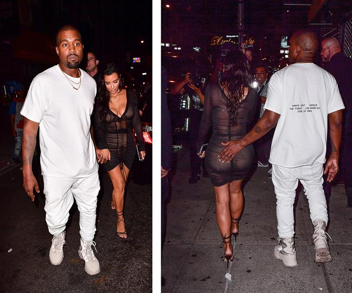 Kimye couldn't keep their hands off of each other!