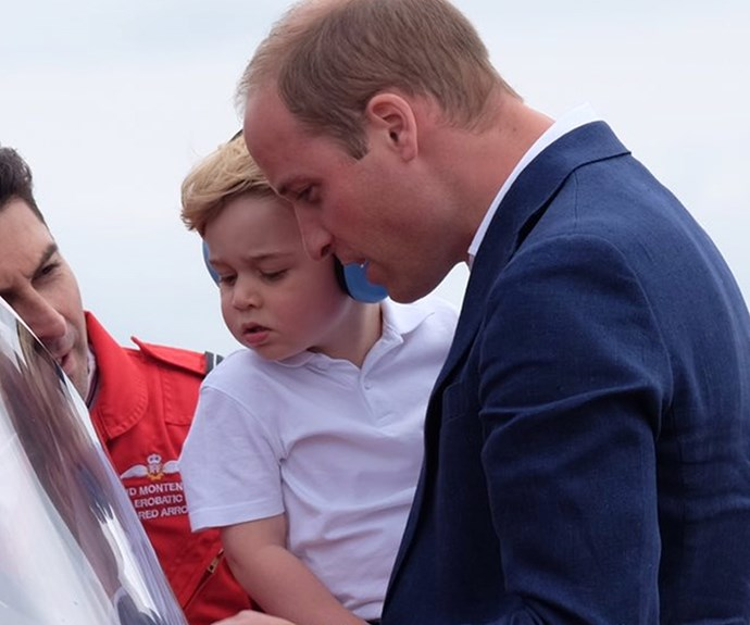 We simply ADORE Prince William and his cheeky son Prince George. In fact, the more we see Prince George, the more we notice how much the cheeky chap is channelling dad, Prince William,