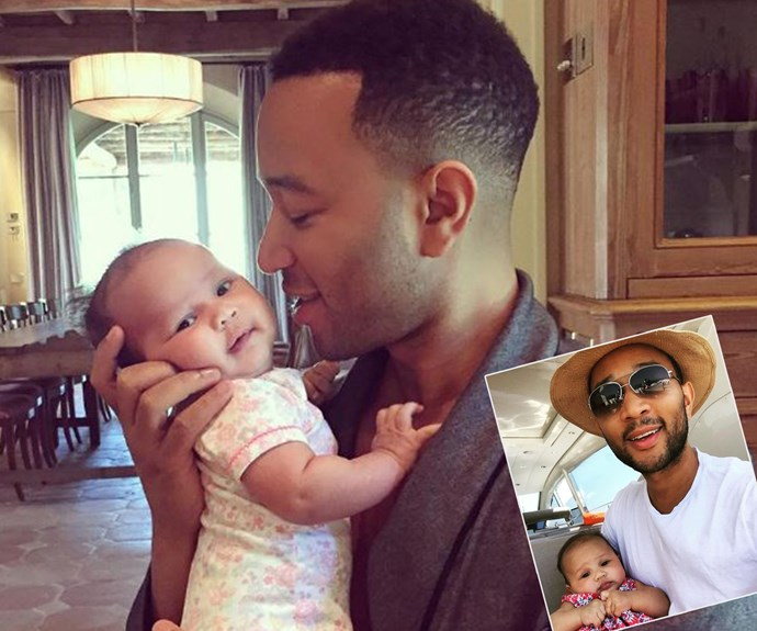 "Fatherhood certainly suits John Legend! The talented singer welcomed his daughter Luna with wife [Chrissy Teigen back in April.](http://www.womansday.com.au/celebrity/hollywood-stars/chrissy-teigen-shows-off-baby-lulu-for-the-first-time-15157|target=""_blank"")"