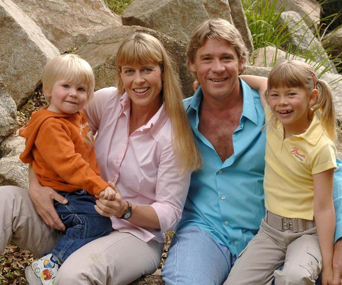 Their family was complete with young Robert and Bindi.