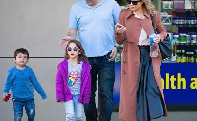 Jessica Marais and Chrys Xipolitas go toy shopping with their kids