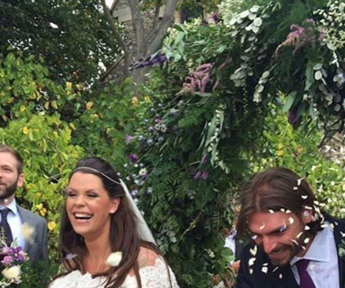 Fifi shared this candid snap via her Instagram page from her big day! (Pic/@fifigeldof)