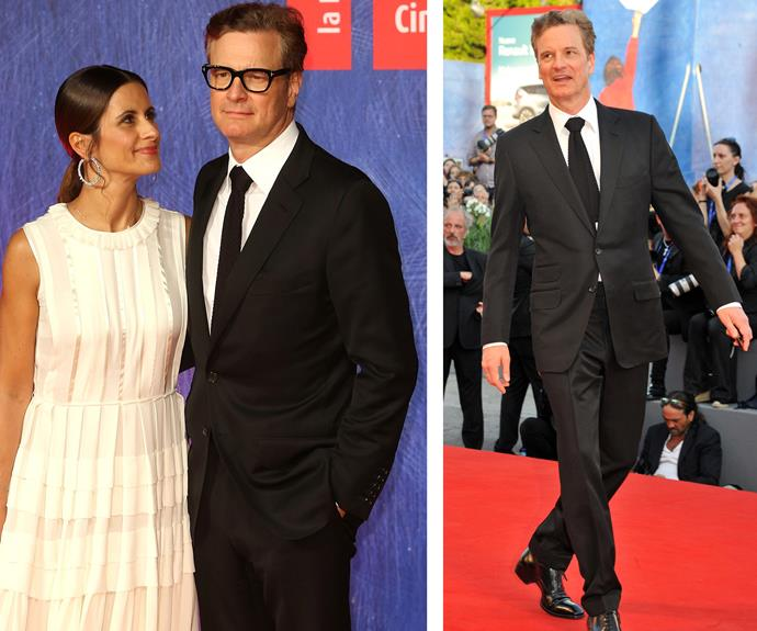 Love put a spring in Colin Firth's step!