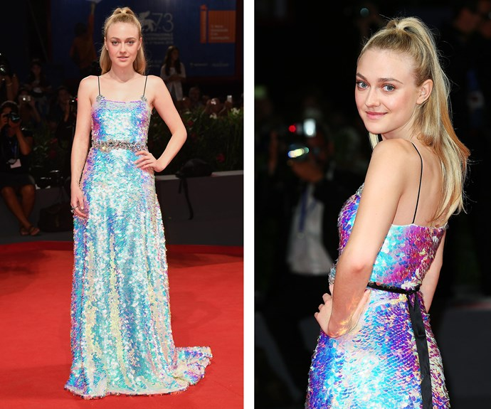 Now 22, Dakota Fanning channeled a mermaid.