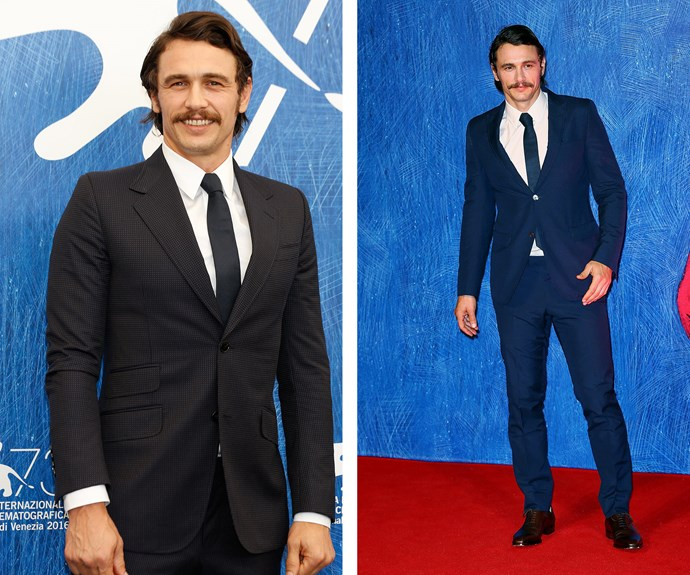 James Franco and his mustache suited up.