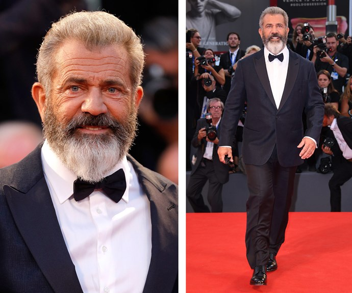 Mel Gibson was bearded and geared up for a star's night out!
