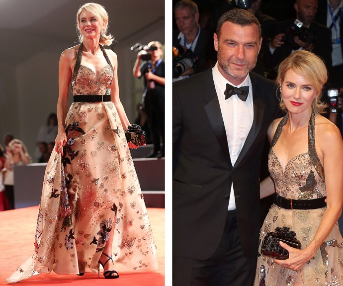Naomi Watts and long-time partner Liev Schreiber were the picture of love.