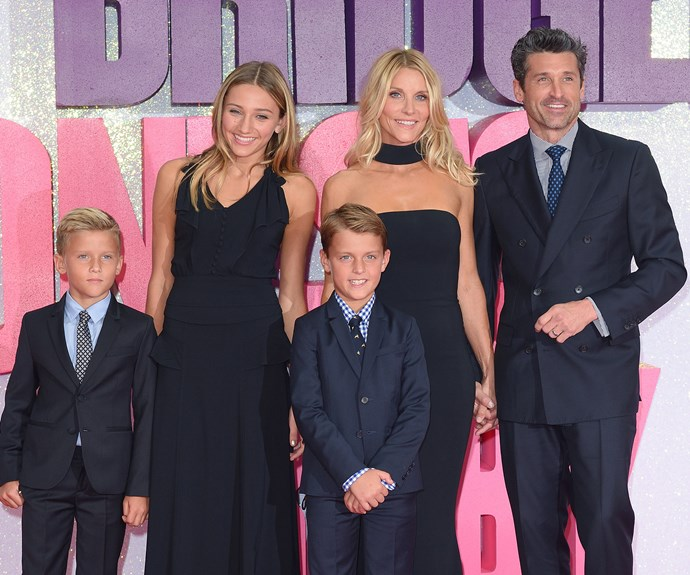 The family came together as one to support their star papa!