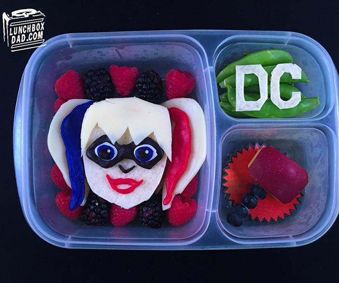 This Harley Quinn lunchbox will appeal to superhero fans! (Pic/@lunchboxdad)