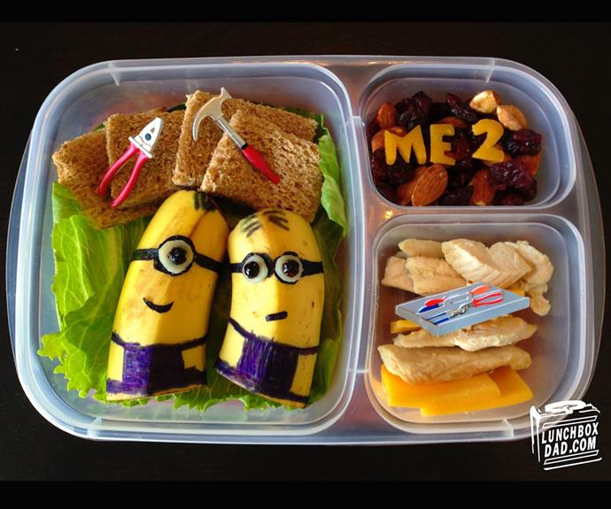 The Minions box is one of Beau's most talked-about lunches. (Pic/@lunchboxdad)