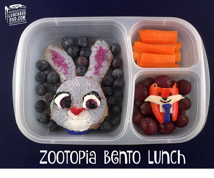 Lt. Judy Hopps to the lunchbox rescue! (Pic/@lunchboxdad)