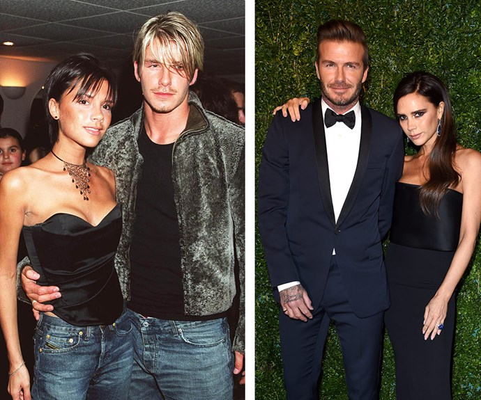Then and now: Despite the explosive claims, Posh and Becks have weathered the storm and come out on the other side of it.