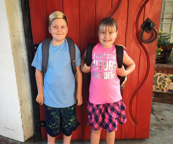 "Tori Spelling and Dean McDermott's two oldest kids Liam and Stella are so grown up as they embark on the next chapter of school! ""#firstdayofschool for my 2 oldest babes! Can't believe my Monkey and Buggy are in 4th and 3rd grade... Time flies! #proudmama,"" Tori penned."