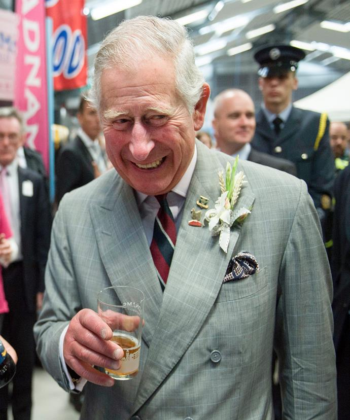 The beloved royal was giddy indeed!