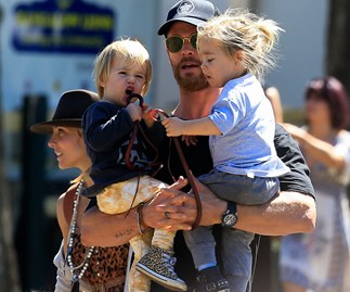 Chris Hemsworth, Tristan and Sasha Hemsworth