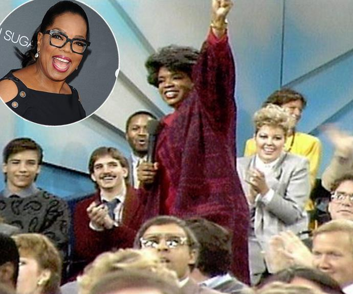 "To celebrate three decades since the very first epsiode of *The Oprah Show*, the host took to social media with this vintage pic. ""30 years ago today. The premiere of The Oprah Winfrey Show. Amazing Grace. Glory days. Shoutout to Harponians everywhere!"" she wrote beside it."