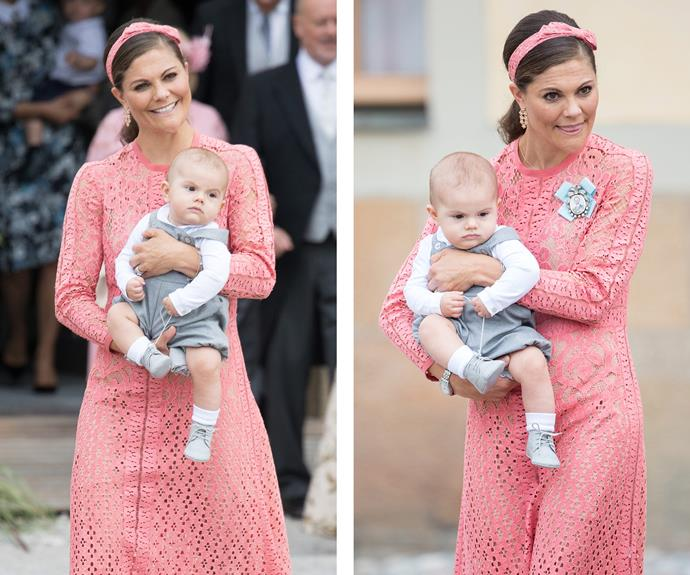 It feels like just yesterday that Princess Victoria celebrated her son's christening in the very same chapel!