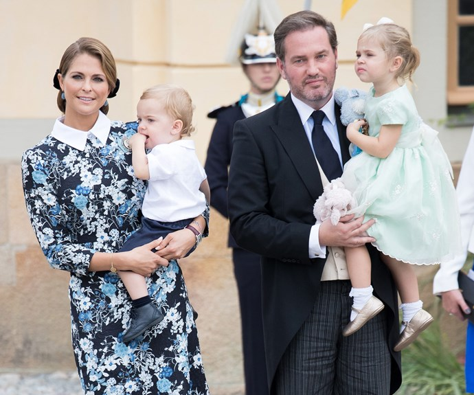 Also in attendance was Princess Madeleine and hubby Prince Nicolas, who carried their sweet kids Prince Nicolas, one, and Princess Leonore, two.