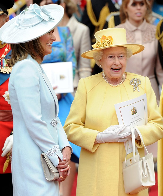 The Queen happily showed Kate's mother around Balmoral.