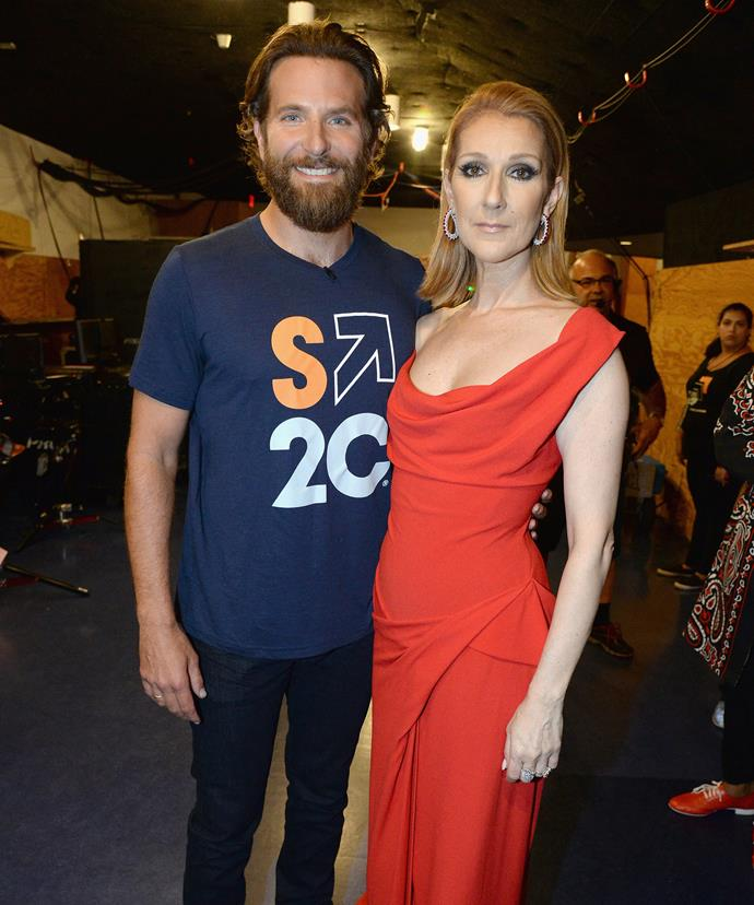 Celine with Bradley Cooper.