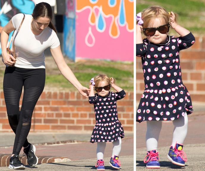 Of course, you need sunnies! We think she should have her own show!