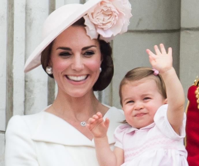 Princess Charlotte already knows how to wave to a crowd.