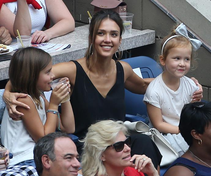 Girls' day out! On Saturday September 10, Jessica Alba and her daughters Honor and Haven enjoyed watching a spot of tennis at the US open in New York City.