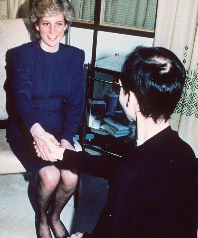 Breaking down the taboo: The world was shocked when Diana got so close to an AIDS victim back in 1989.