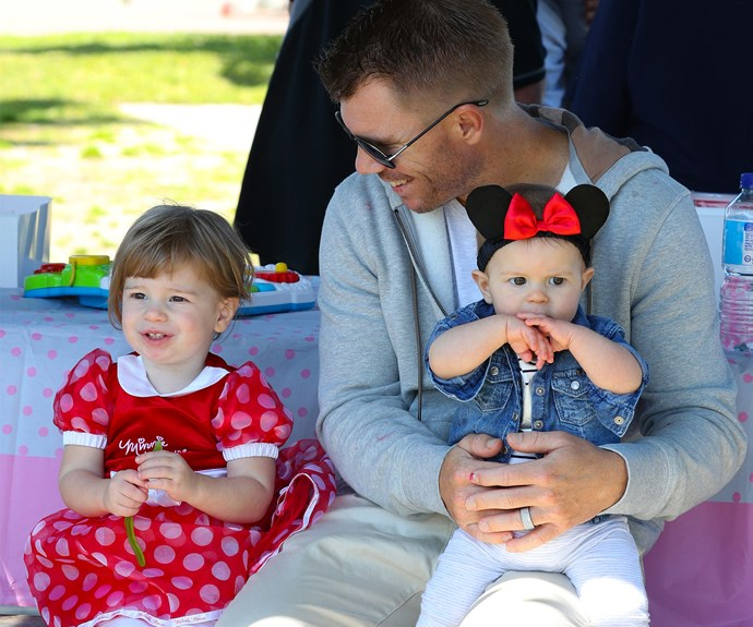 Ivy and Indi are certainly daddy's girls.