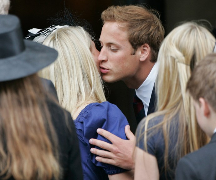 Wills pictured greeting his cousin Kitty an a royal engagement.