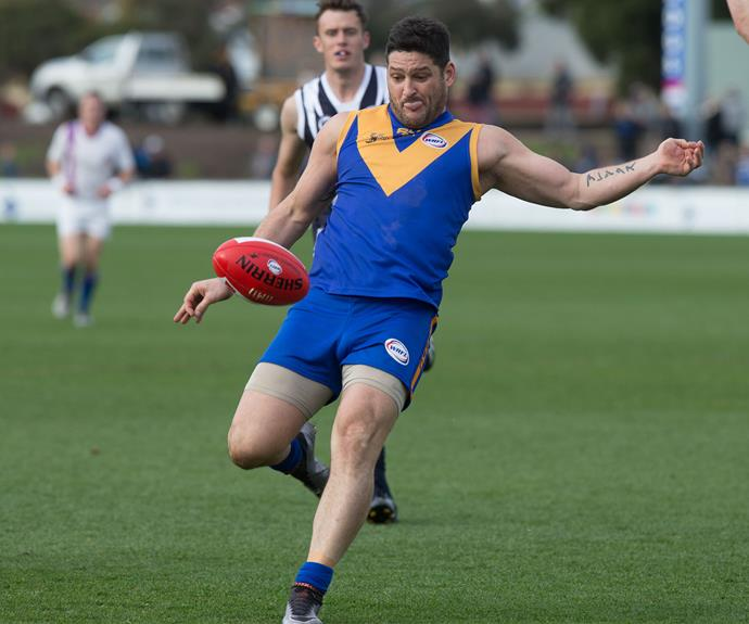 Brendan Fevola was back on the field for his football grand final in Melbourne.