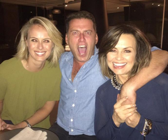 No doubt Karl will be throwing himself into work with sister-in-law-to-be Syliva Jeffreys and Lisa Wilkinson.
