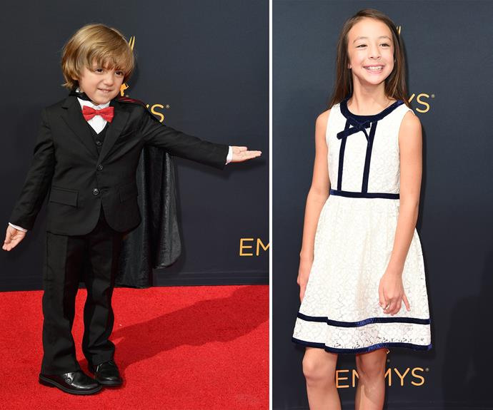 *Modern Family* kids Jeremy Maguire and Aubrey Anderson Emmons were in great spirits.