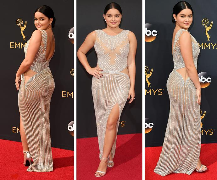 *Modern Family* beauty Ariel Winter brought the sparkle factor in this figure-hugging dress.