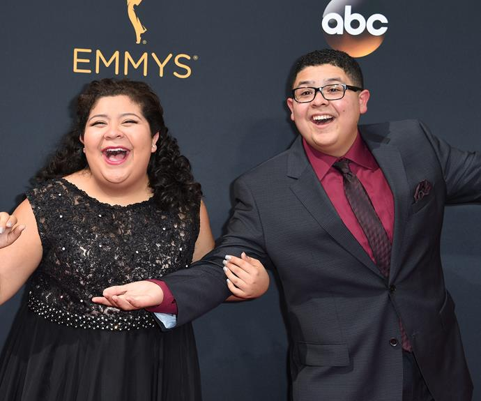 Rico Rodriguez and his sister Raini Rodriguez were having a ball!