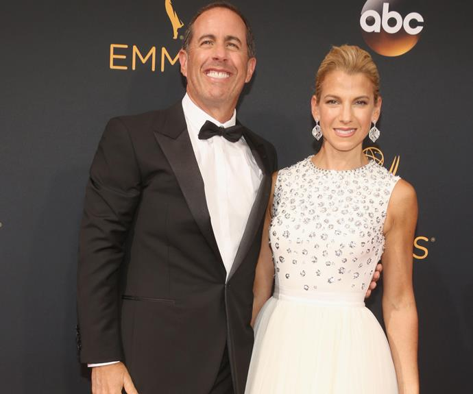 Funnyman Jerry Seinfeld, who has unearthed a whole new fan base thanks to his web series *Comedians in Cars Getting Coffee*, was joined by his wife Jessica.
