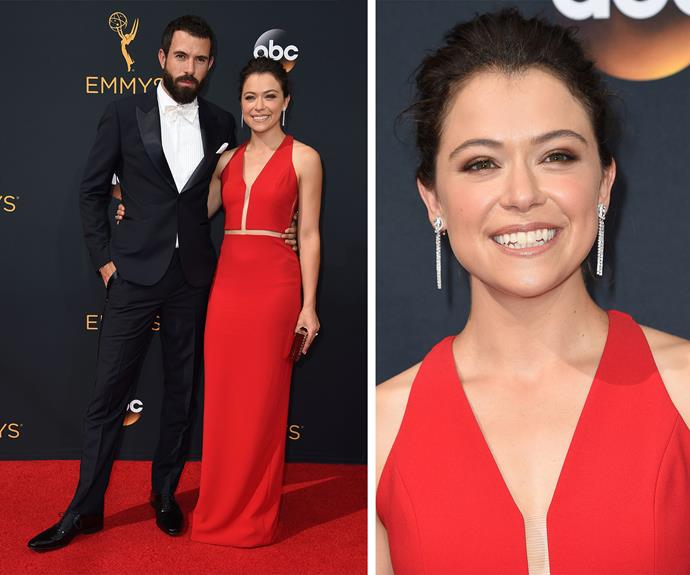 Tatiana Maslany and Tom Cullen made for a picture-perfect duo.