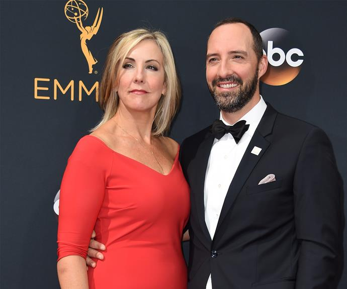 Veep actor Tony Hale and wife Martel Thompson.