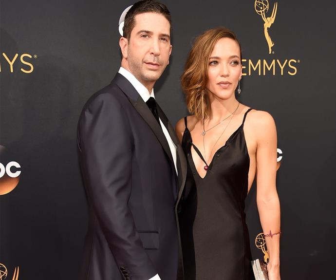 David Schwimmer was joined by his wife Zoe Buckman.