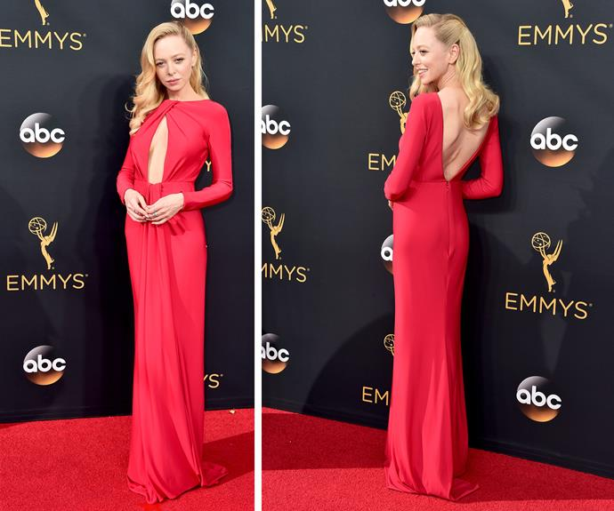 Mr. Robot's Portia Doubleday was a knockout in red.