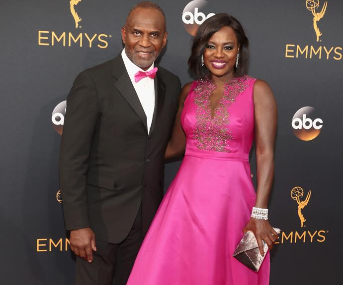 Viola Davis and her hubby Julius Tennon coordinated their outfits with a magenta touch.