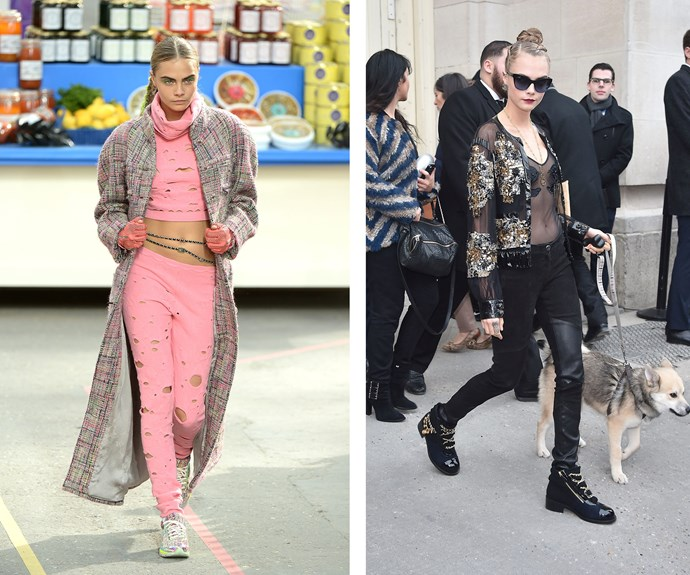 """""""I hate high heels, more than anything,"""" says supermodel Cara Delevingne, who is living proof that fashion doesn't always require you to be six inches off the ground."""