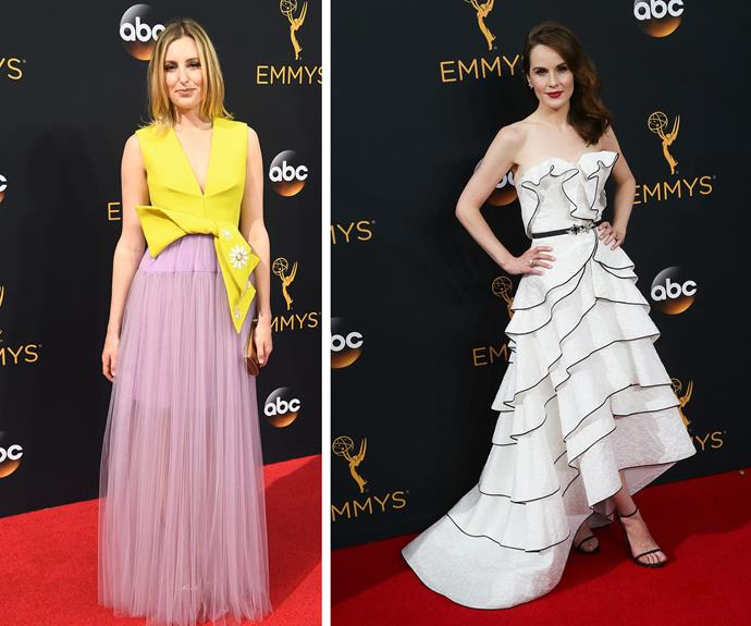 Downton Abbey stars Laura Carmichael and Michelle Dockery were in attendance.