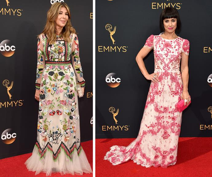 Nina Garcia and Constance Zimmer packed a punch in these adorable floral frocks.