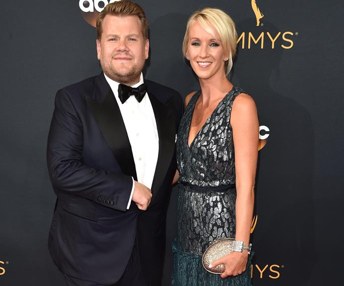 Love was in the air for James Corden and his Mrs, Julie.