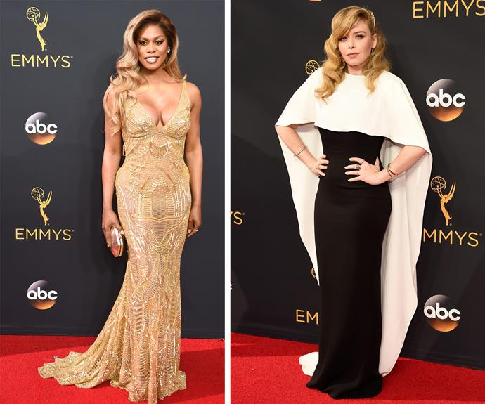*Orange Is The New Black* favourites Laverne Cox and  Natasha Lyonne.
